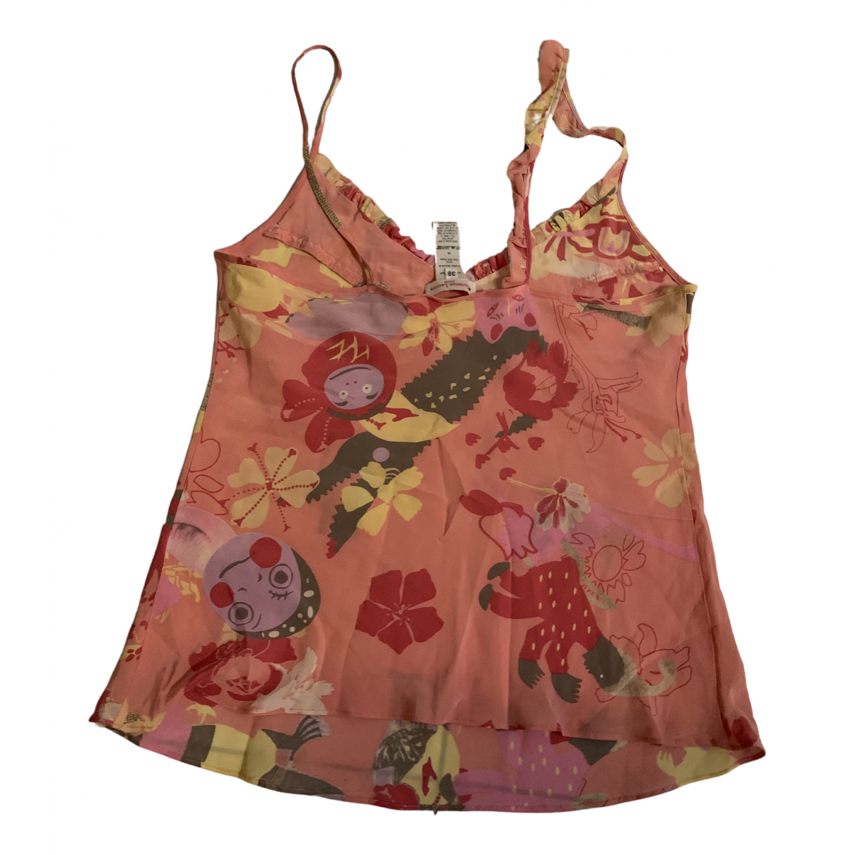Christian Lacroix N Pink Silk  top for Women 38 FR