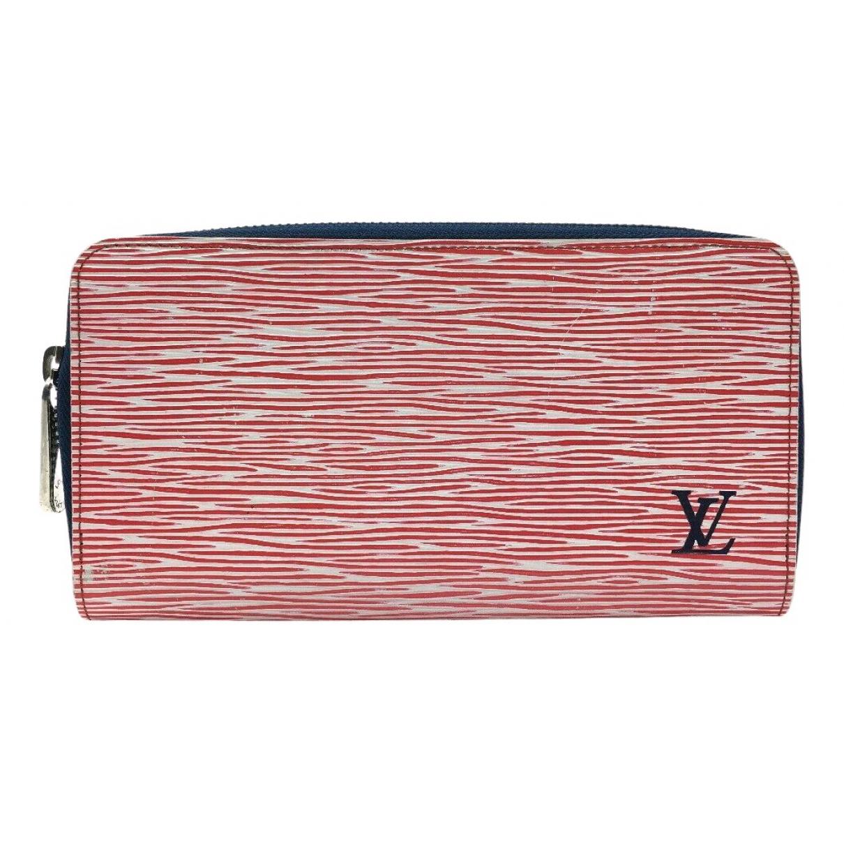 Louis Vuitton Zippy Portemonnaie in  Rot Leder