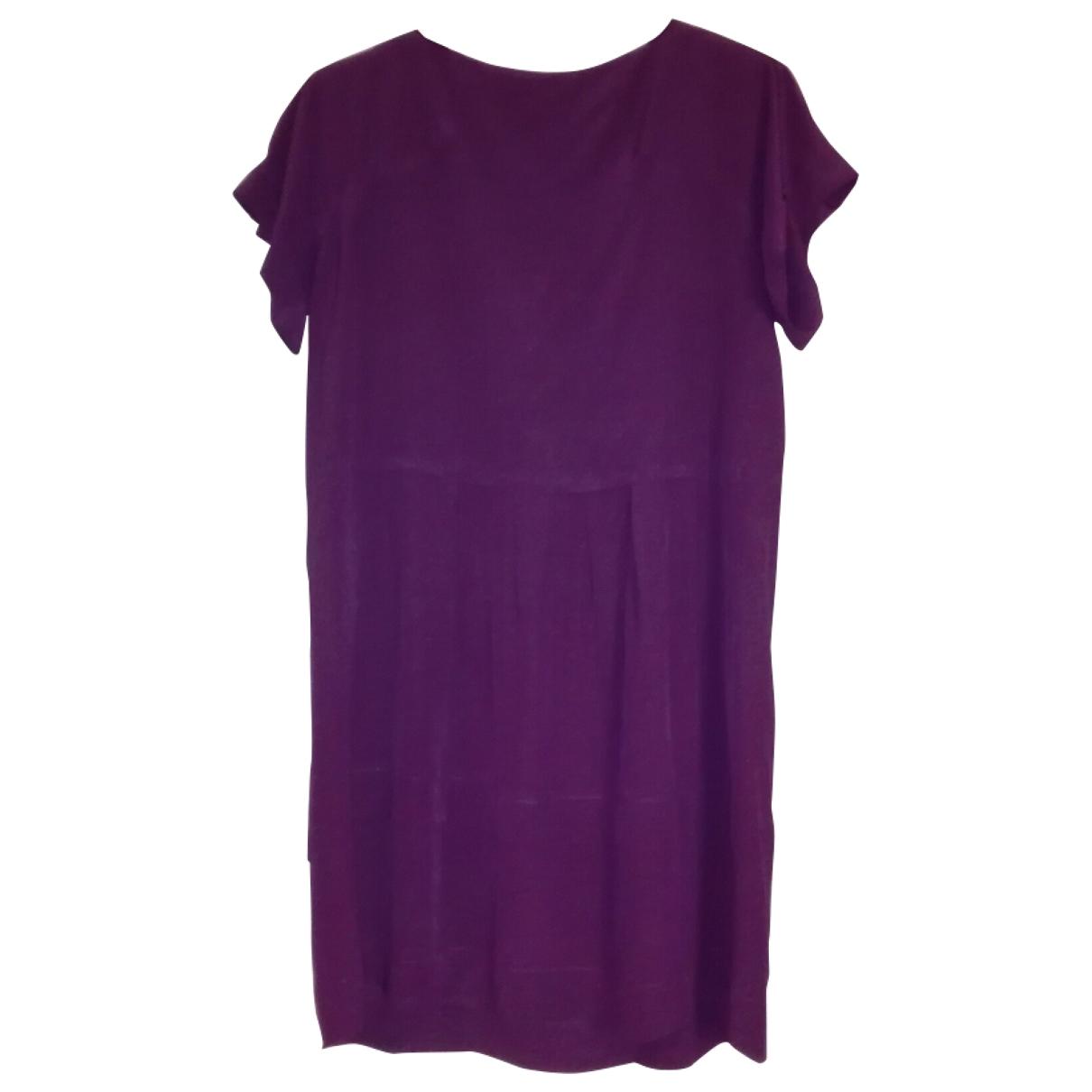 Miu Miu - Robe   pour femme en soie - violet