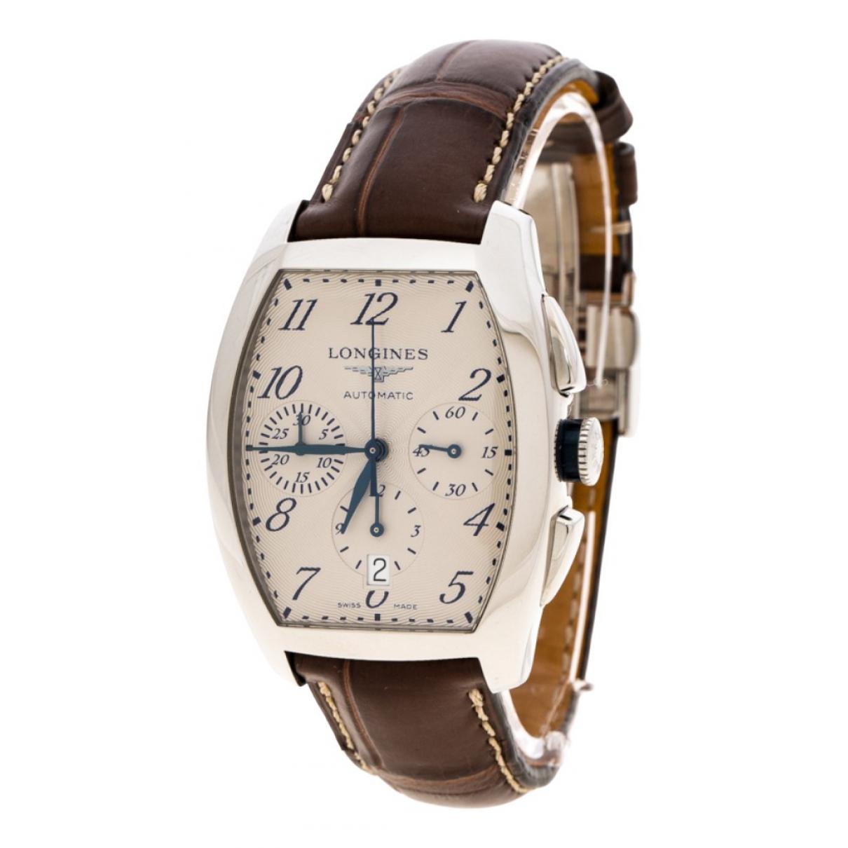 Longines Evidenza Brown Steel watch for Men \N