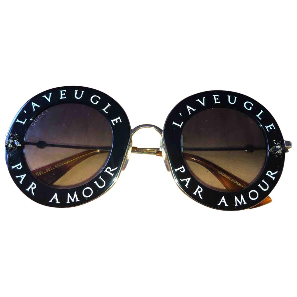Gucci - Lunettes   pour femme - noir