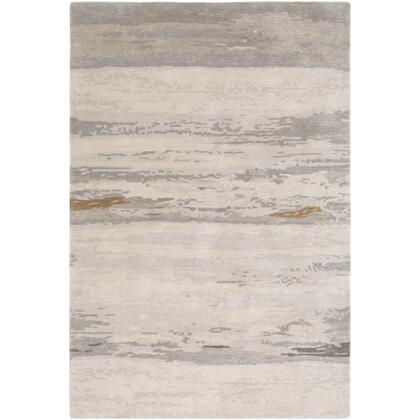 Kavita KVT-2303 8' x 10' Rectangle Modern Rug in Light Gray  Ivory  Medium Gray  Charcoal  Tan