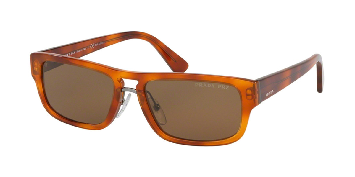 Prada PR05VS Polarized 4691H0 Men's Sunglasses Tortoise Size 56
