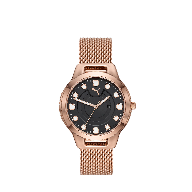 Puma Women's Reset P1009 Rose-Gold Stainless-Steel Quartz Fashion Watch