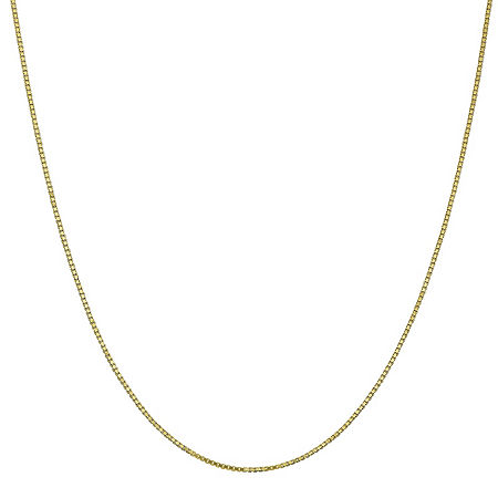10K Gold Solid Box Chain Necklace, One Size , No Color Family