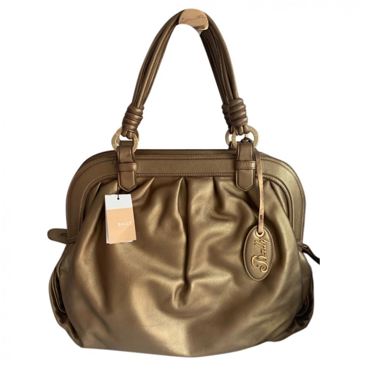 Bally \N Gold Leather handbag for Women \N
