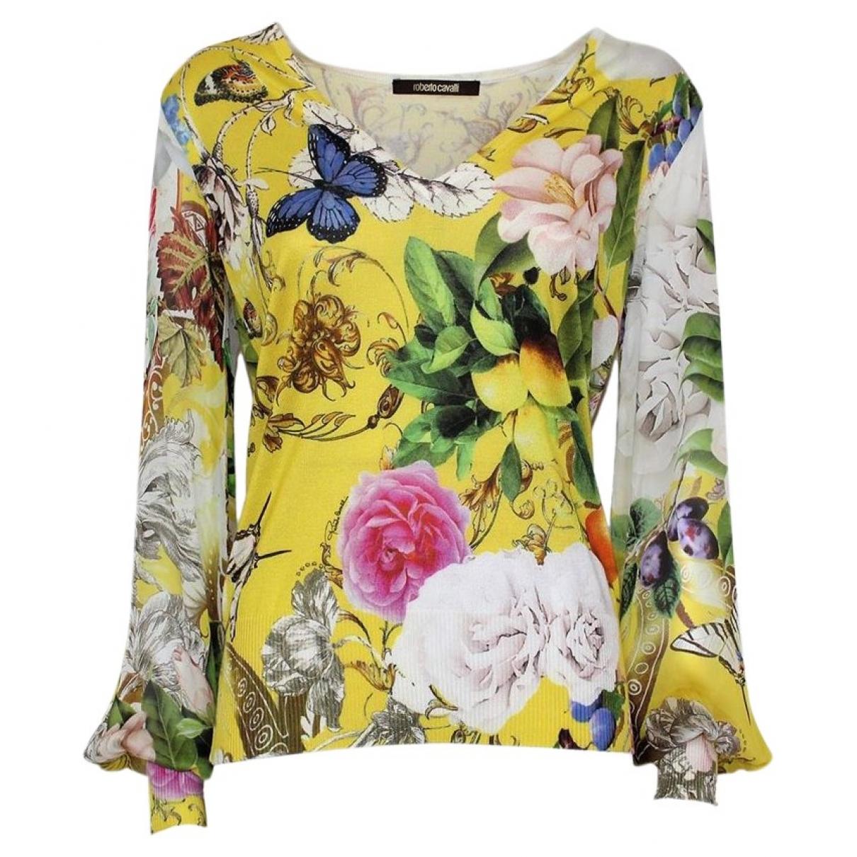 Roberto Cavalli \N Yellow Silk Knitwear for Women M International