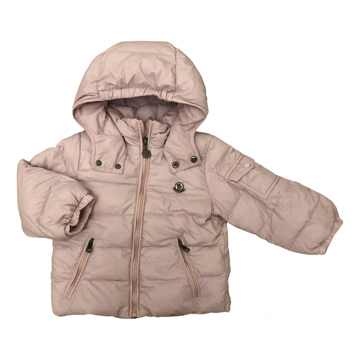 Moncler Classic Jacke, Maentel in  Rosa Polyester
