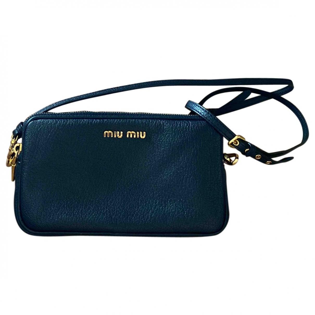 Miu Miu \N Handtasche in  Marine Leder