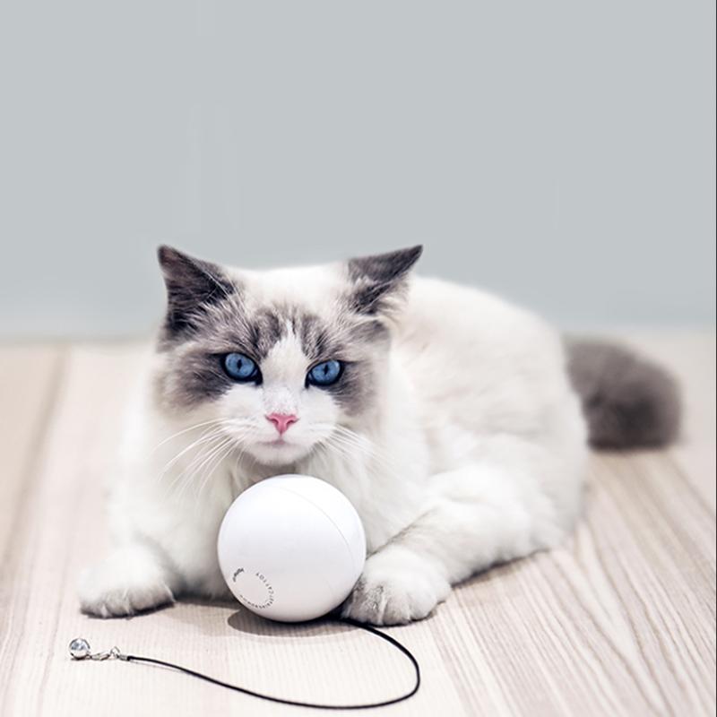 HomeRun Smart Interactive Pet Toys Automatic 360 Degree Self Rotating Ball Toys