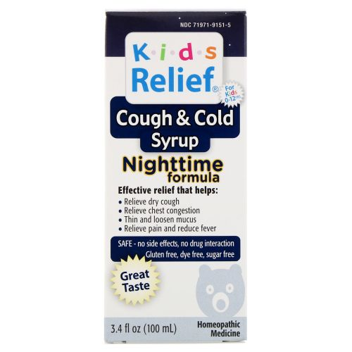 Kids Relief Cough and Cold Nighttime Formula 8.5 FL Z by Homeolab