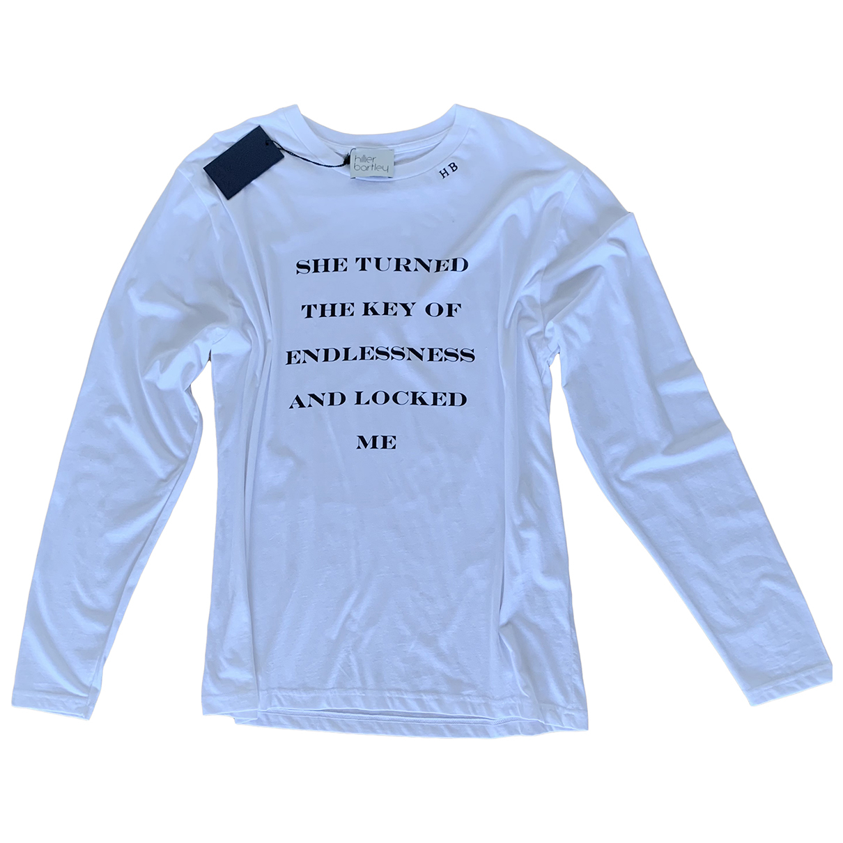 Hillier Bartley N White Cotton  top for Women L International