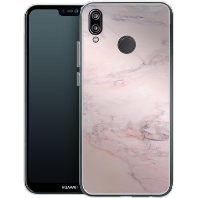 Huawei P20 Lite Silikon Handyhuelle - Blush Marble von Emanuela Carratoni