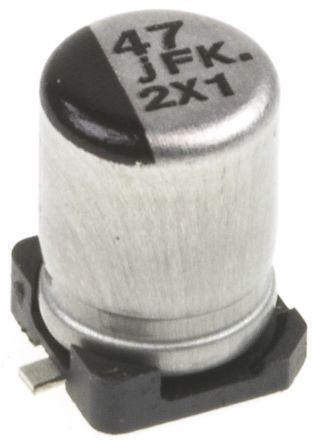 Panasonic 47μF Electrolytic Capacitor 6.3V dc, Surface Mount - EEEFK0J470UR (25)