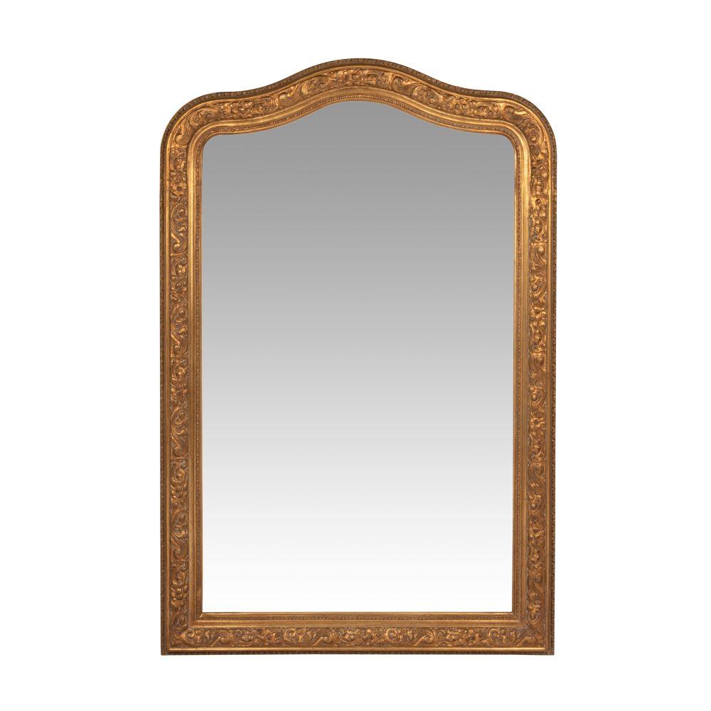 Spiegel mit goldfarbenem Schnitzrahmen 80x120
