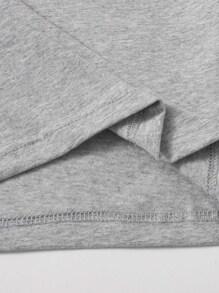 Striped Tape Detail Crop Top
