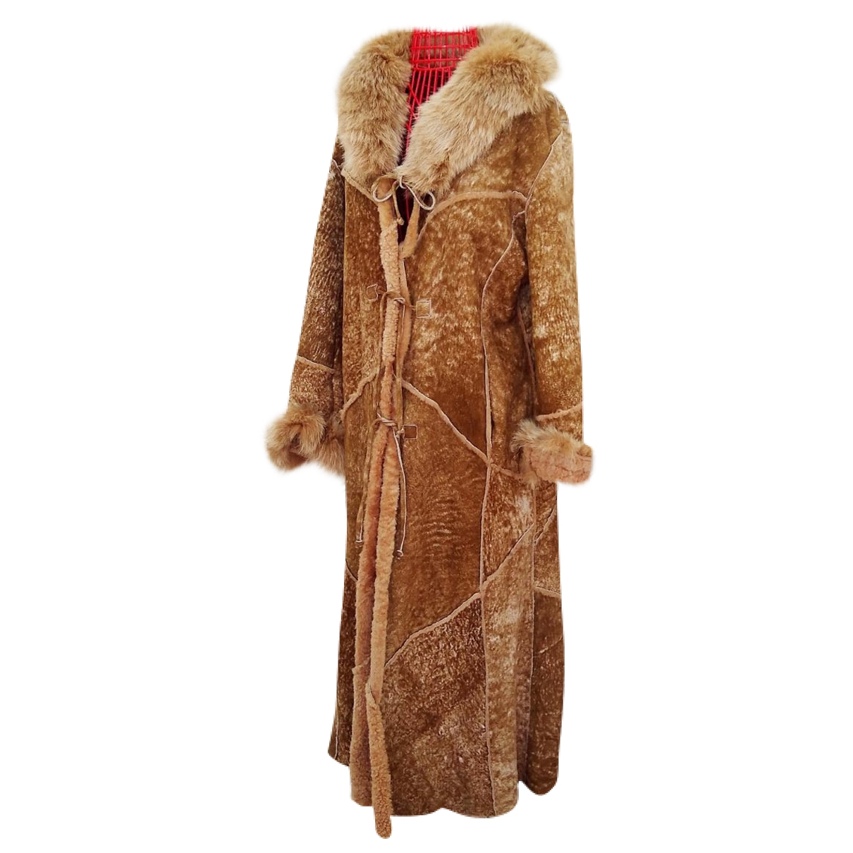 Non Signé / Unsigned \N Beige Shearling coat for Women 44 FR