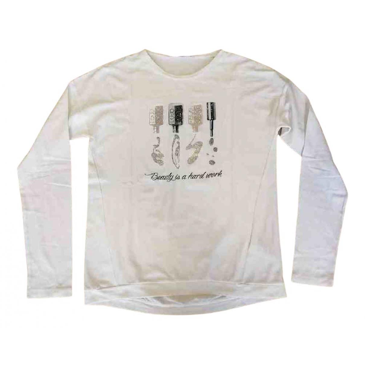 Liu.jo N White Cotton  top for Kids 16 years - M FR