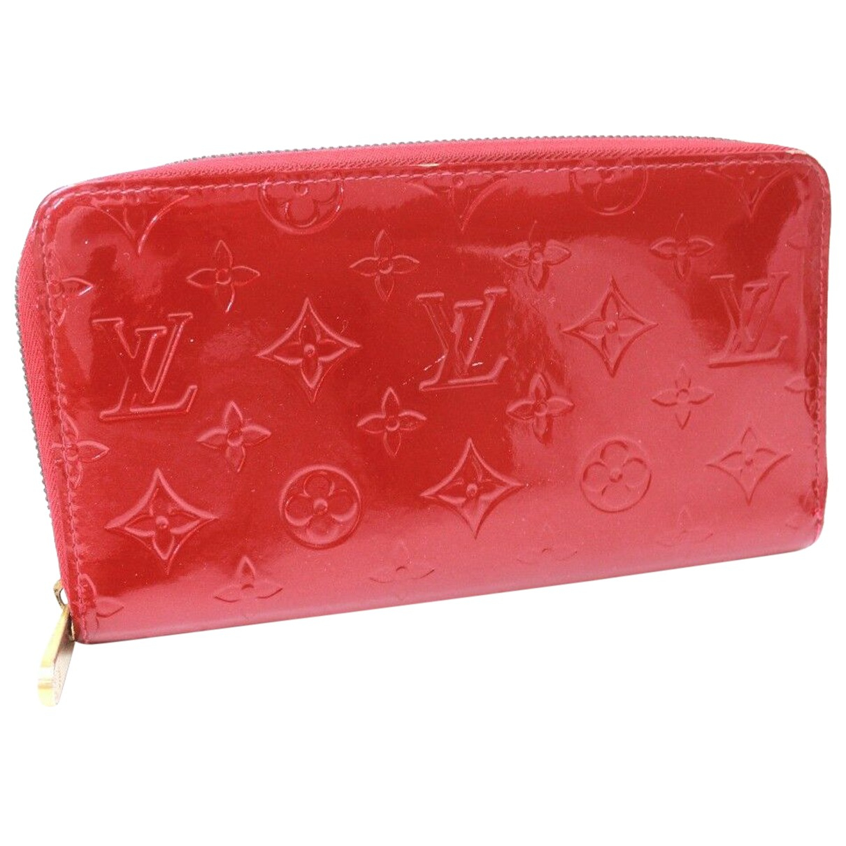 Louis Vuitton Zippy Red Patent leather wallet for Women N