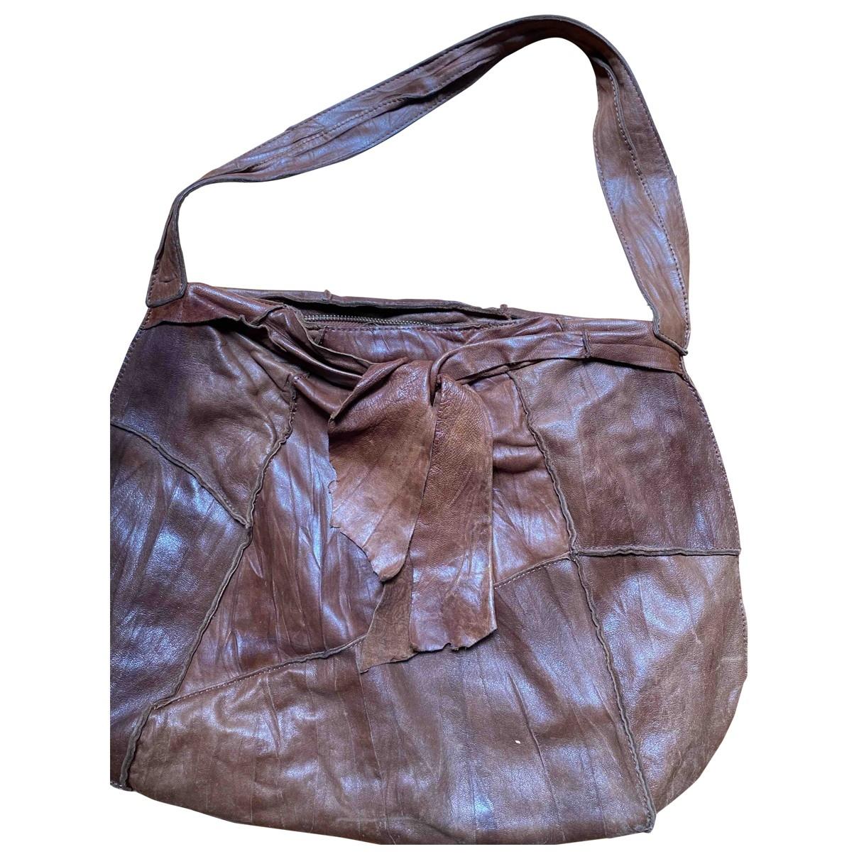 Adolfo Dominguez \N Handtasche in  Braun Leder