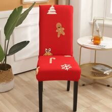 Christmas Pattern Stretchy Chair Cover