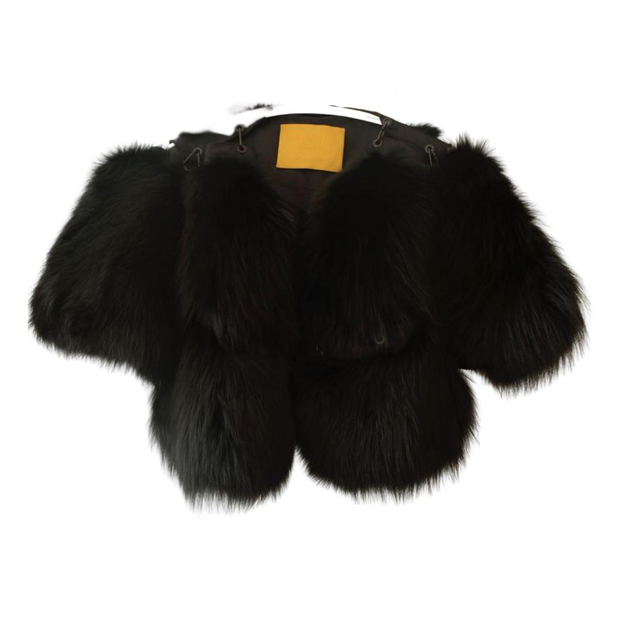 Lanvin - Veste   pour femme en renard - noir