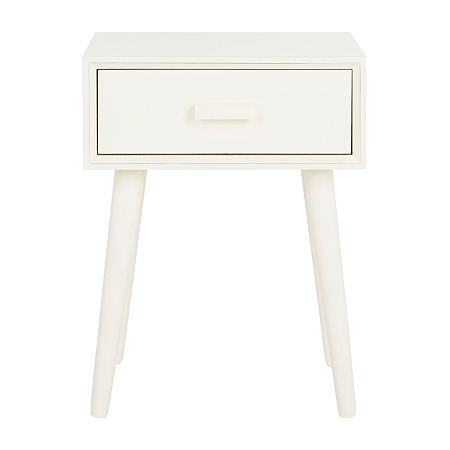 Lyle 1-Drawer Storage End Table, One Size , White