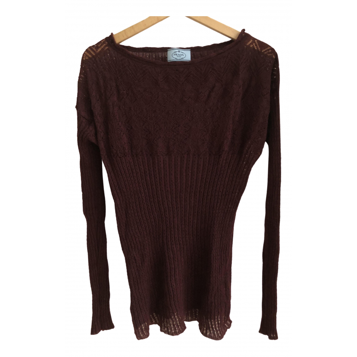 Prada \N Burgundy Knitwear for Women 46 IT