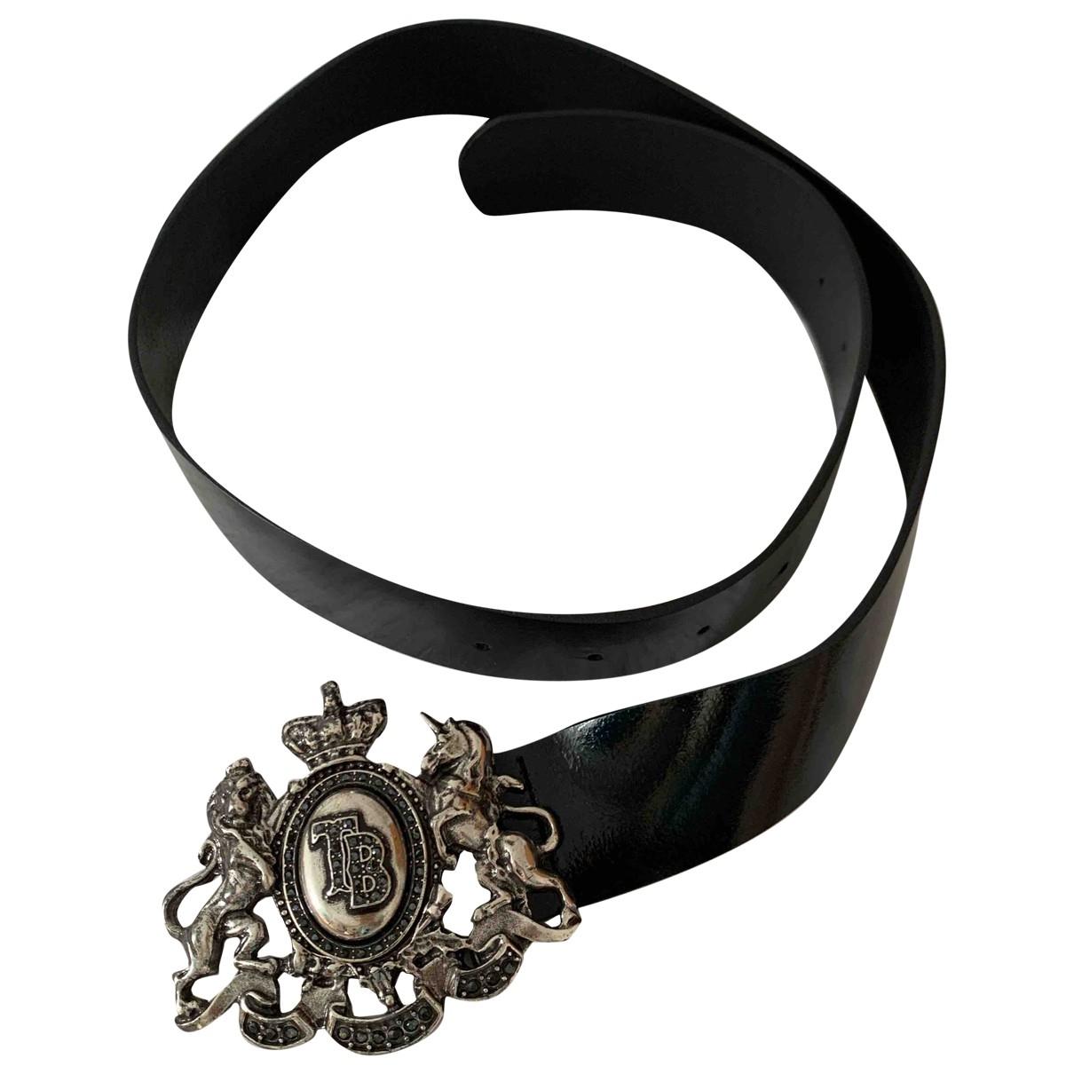Tosca Blu \N Black Leather belt for Women 85 cm
