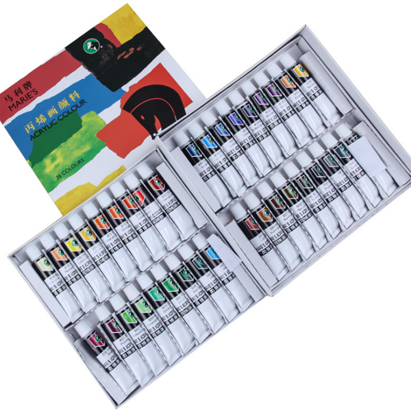 Maries 12/18/24/36 Colors Creation Watercolor Paint Hand-painted DIY Graffiti Pigment For Children And Students