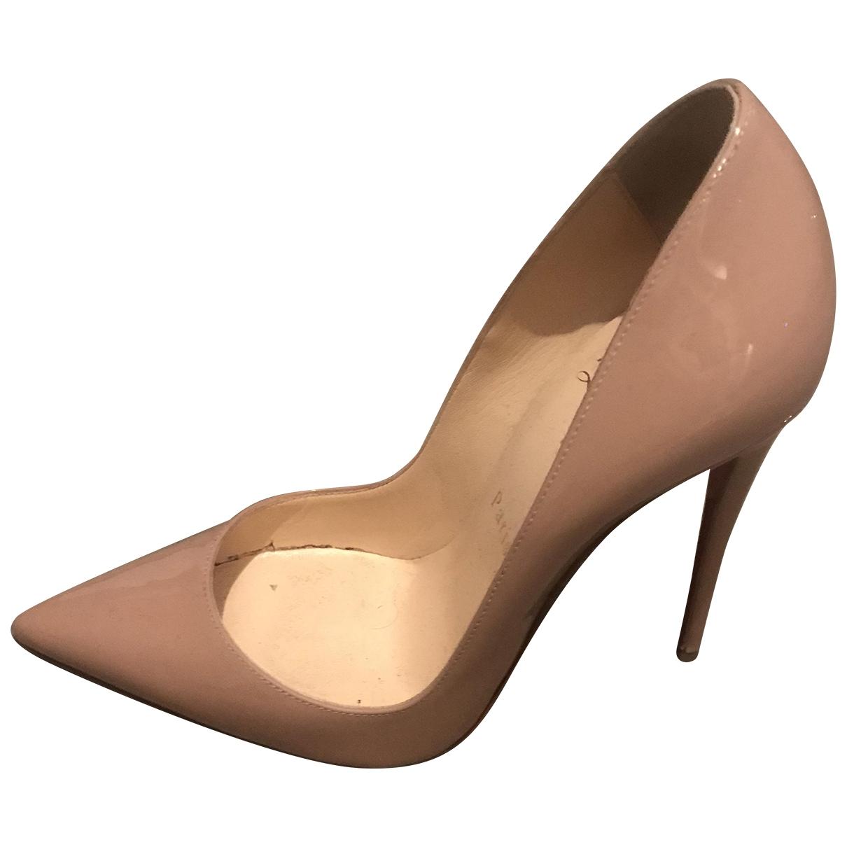 Christian Louboutin - Escarpins So Kate  pour femme en cuir verni - beige