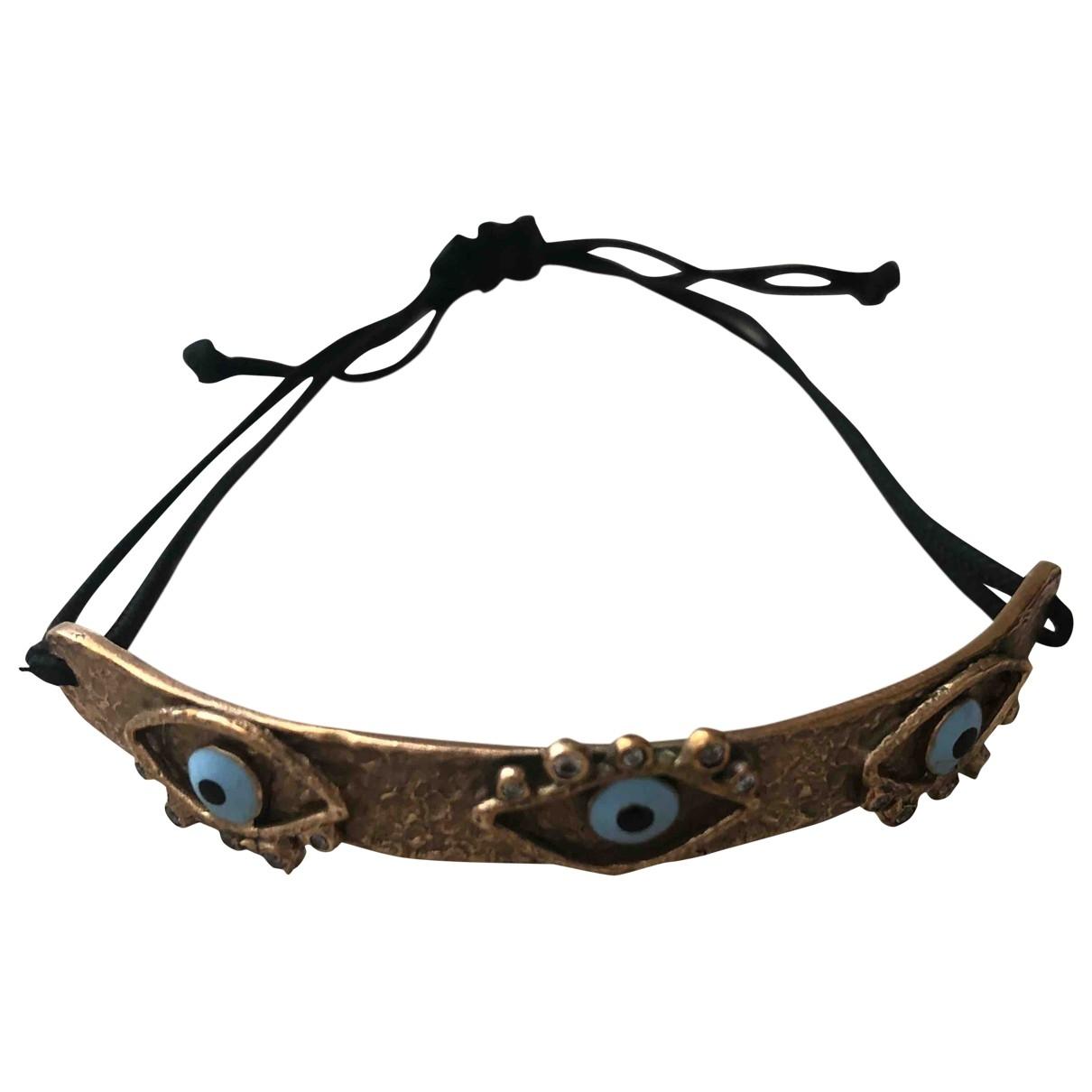 - Bracelet Motifs Religieux pour femme en plaque or - metallise