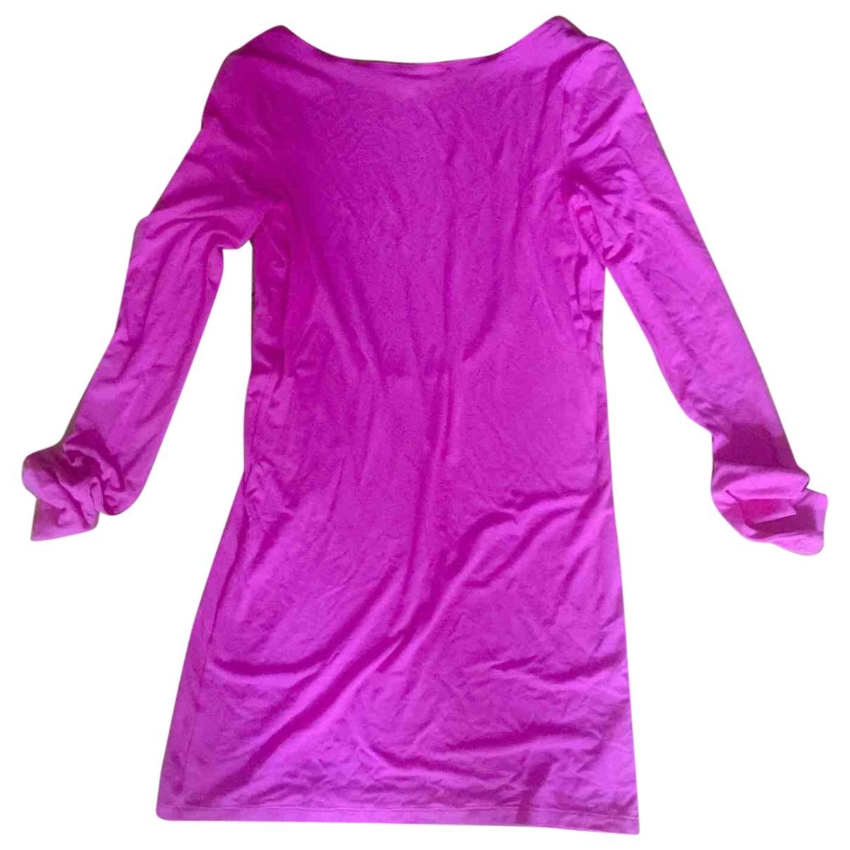 Patrizia Pepe \N Pink Cotton - elasthane dress for Women 2 0-5