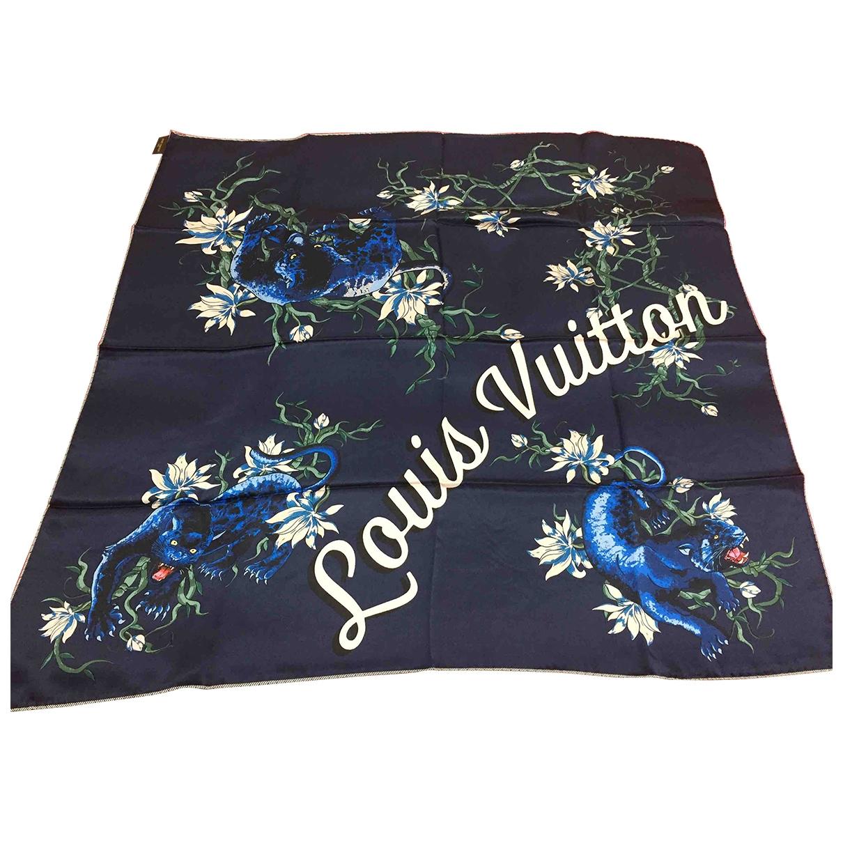 Louis Vuitton \N Blue Silk Silk handkerchief for Women \N