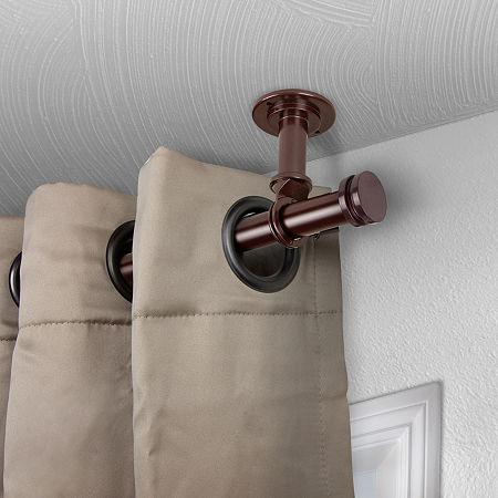 Rod Desyne Bun Ceiling Curtain Rod, One Size , Brown