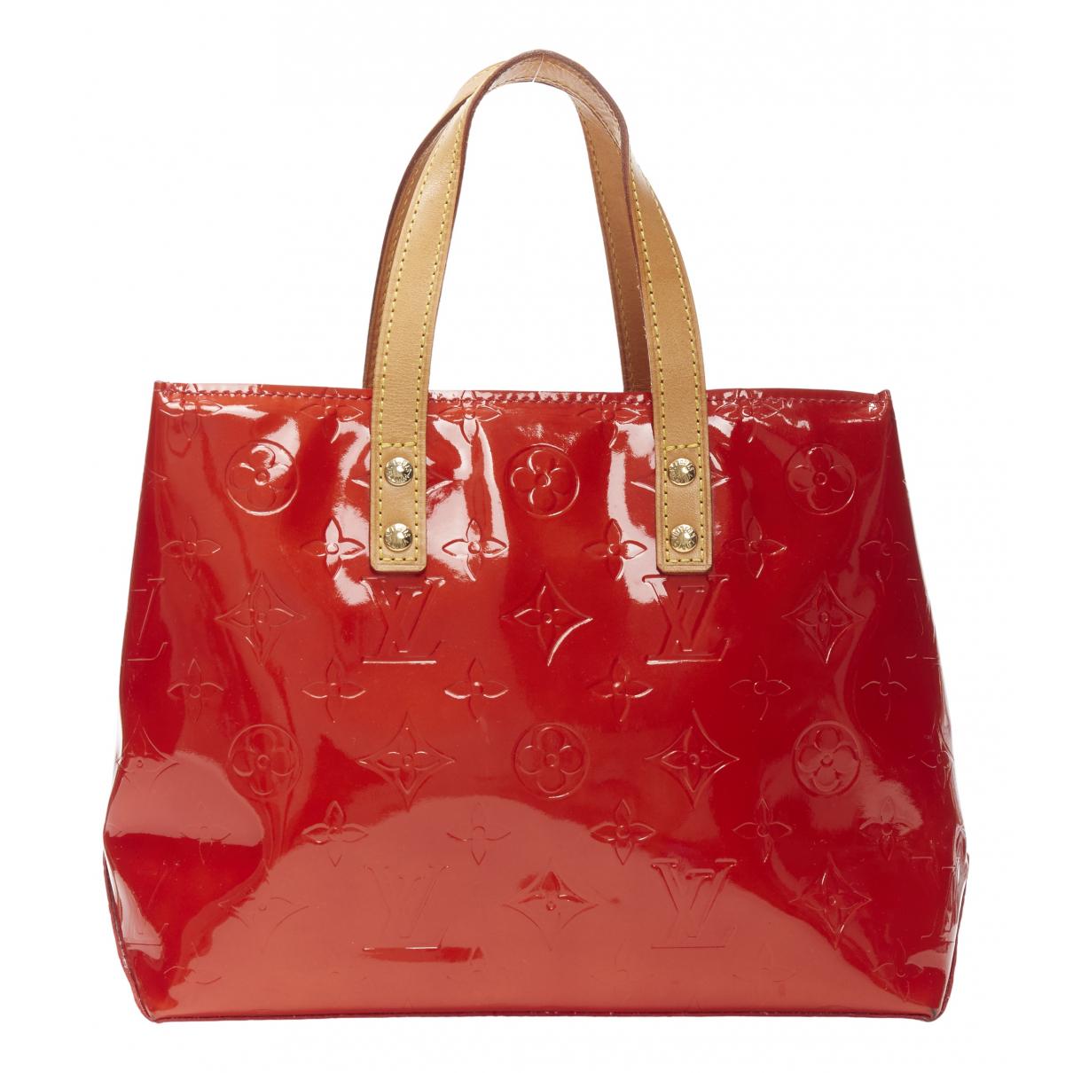 Louis Vuitton Reade Handtasche in  Rot Lackleder