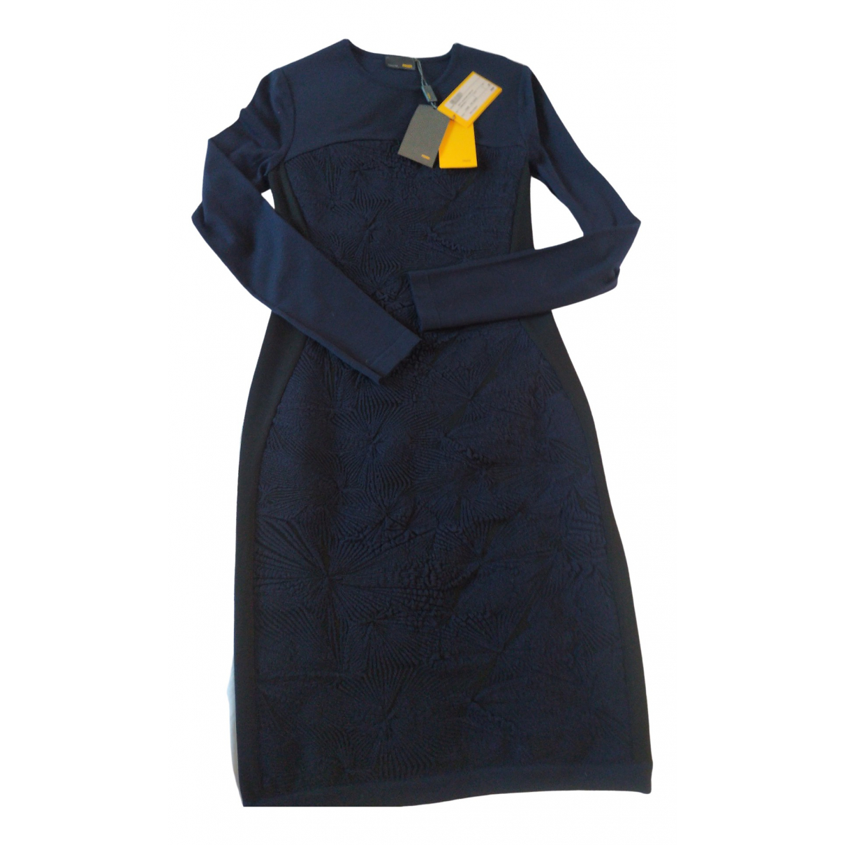Fendi \N Kleid in  Blau Wolle