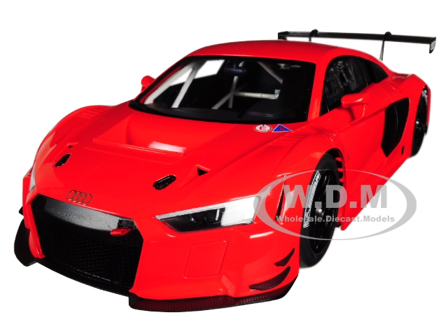 Audi R8 FIA GT GT3 Plain Color Version Red with Black Wheels 1/18 Model Car by Autoart