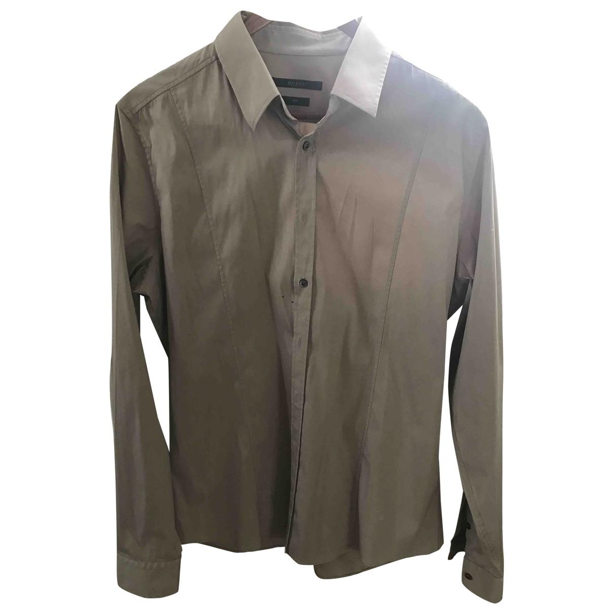 Gucci \N Hemden in  Beige Baumwolle