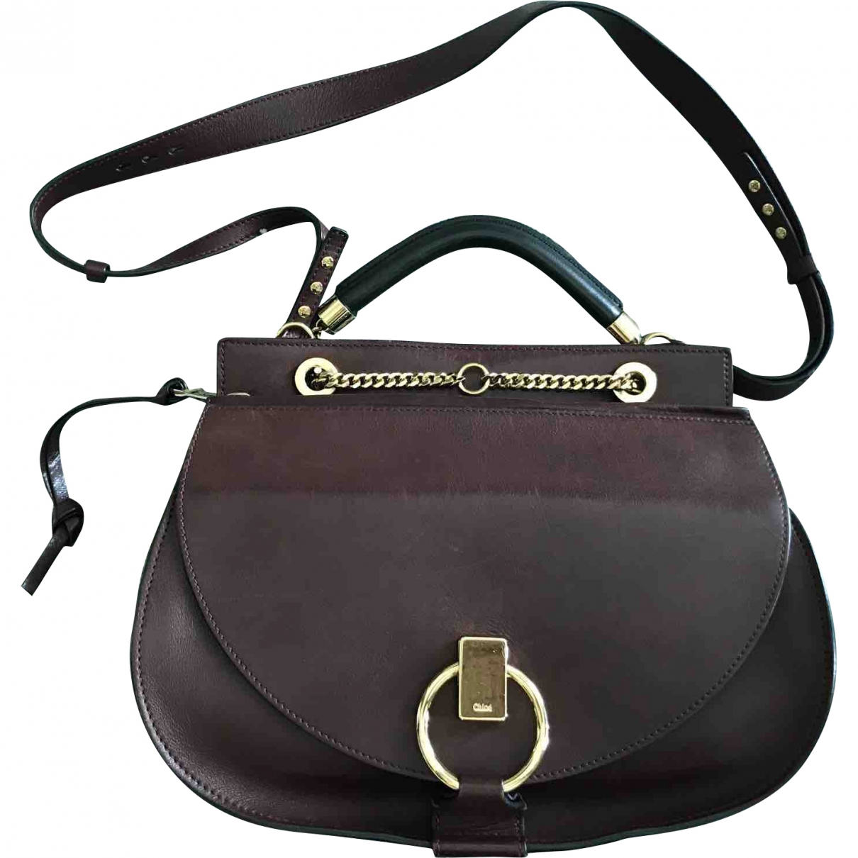 Chloé \N Burgundy Leather handbag for Women \N