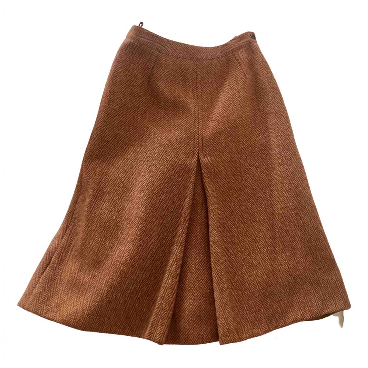- Jupe   pour femme en laine - orange