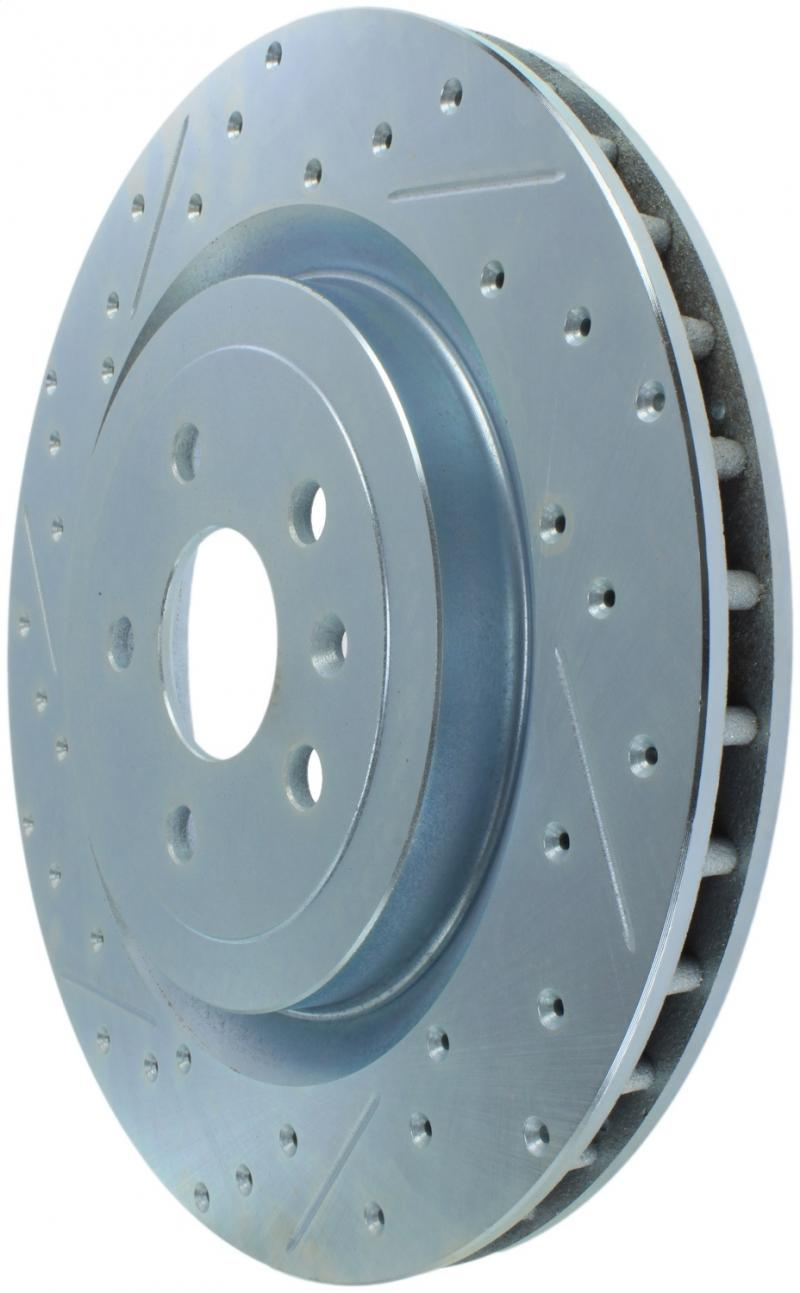 StopTech 227.62119R Select Sport Drilled and Slotted Brake Rotor; Rear Right Rear Left