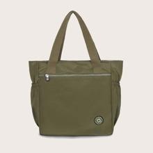 Minimalist Side Pocket Tote Bag