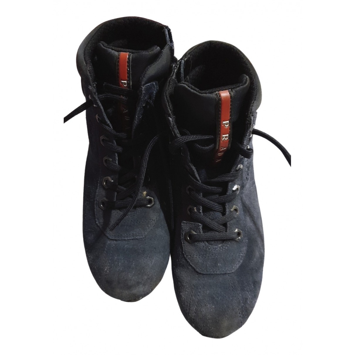 Prada \N Blue Leather Boots for Kids 33 FR