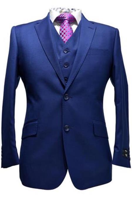 Alberto Nardoni Teal Blue Blue Pick Stitched 2 Button Suit pants