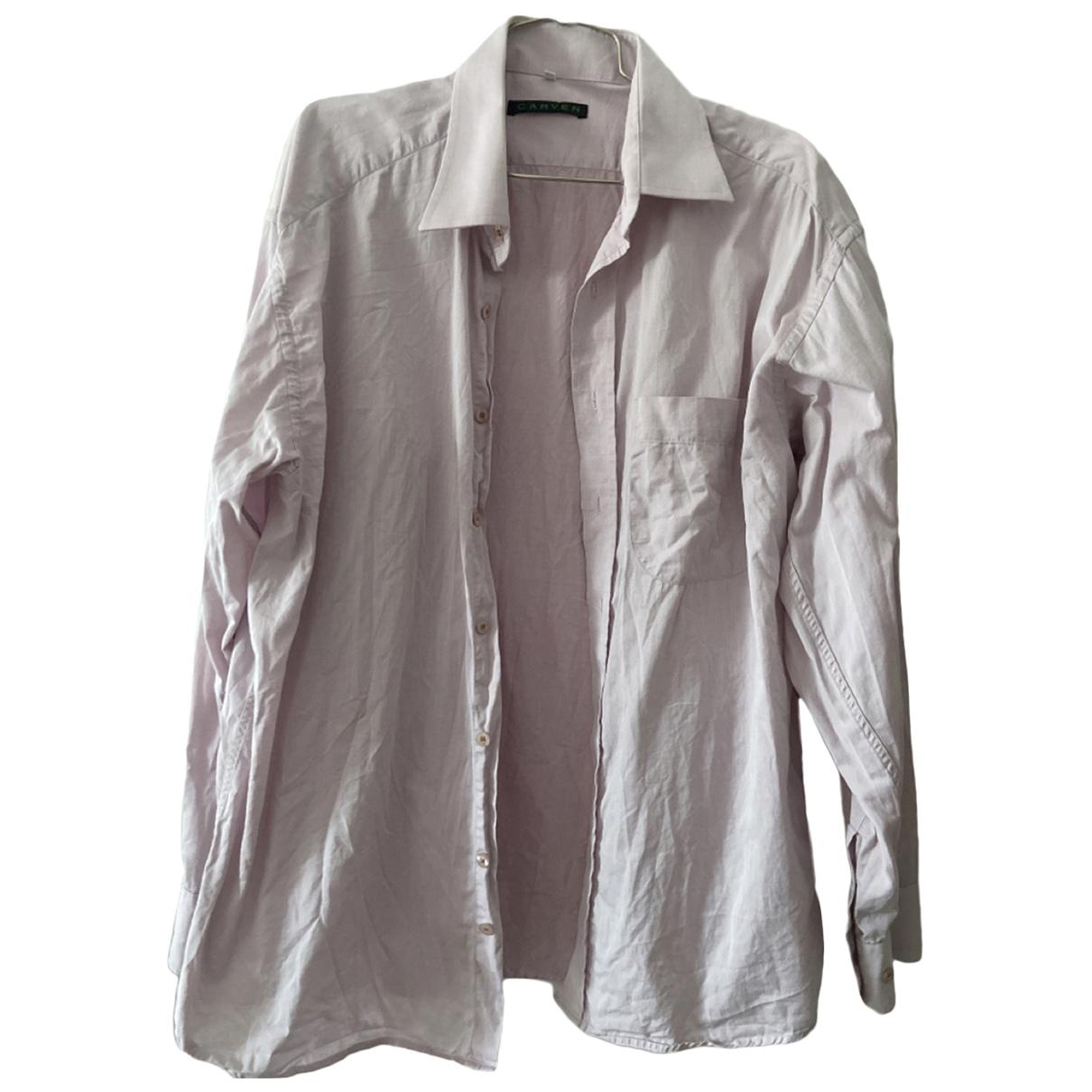 Carven - Top   pour femme en coton - rose