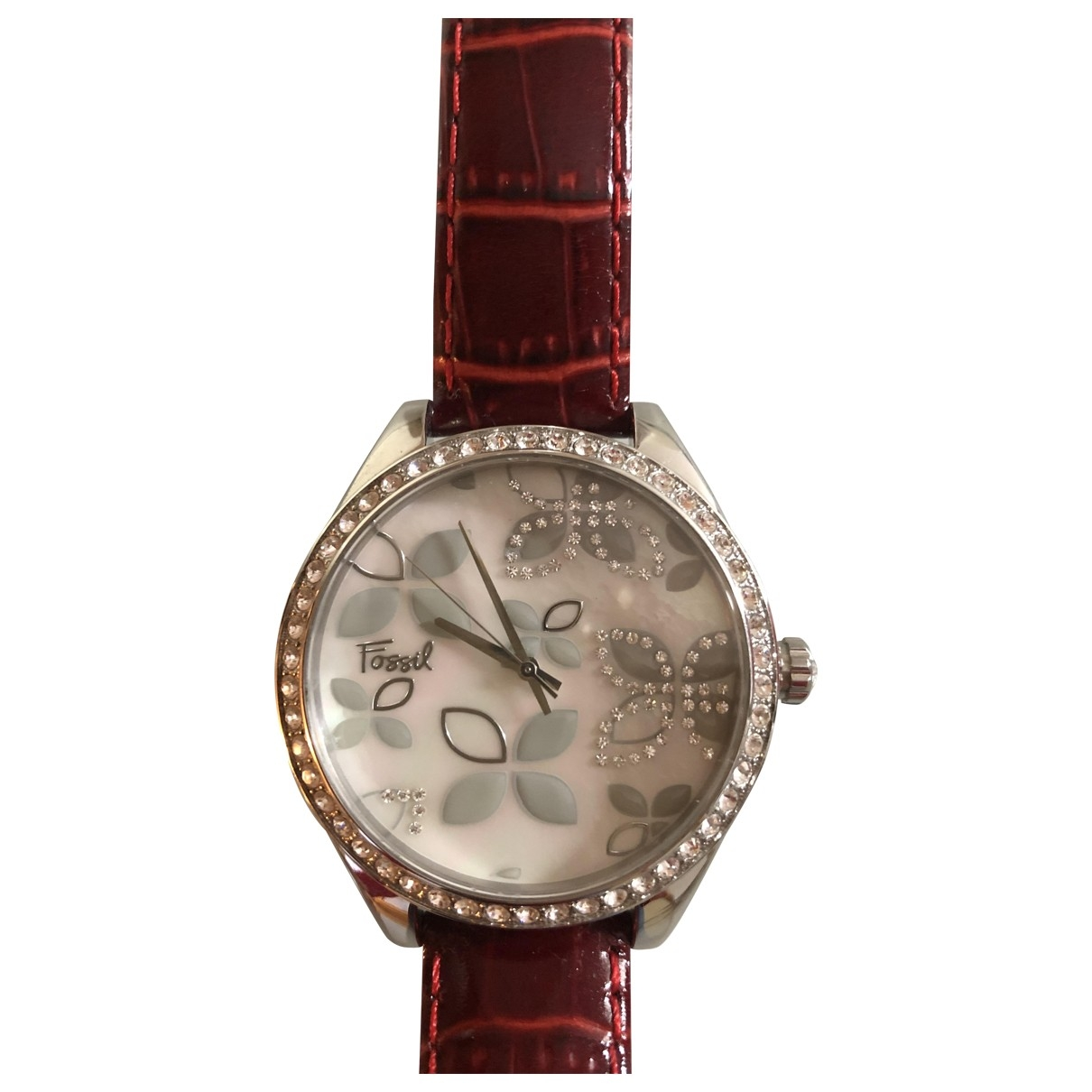 Fossil \N Burgundy Steel watch for Women \N