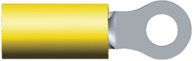 TE Connectivity , PIDG Insulated Crimp Ring Terminal, M4 Stud Size, 2.6mm² to 6.6mm² Wire Size, Yellow (50)