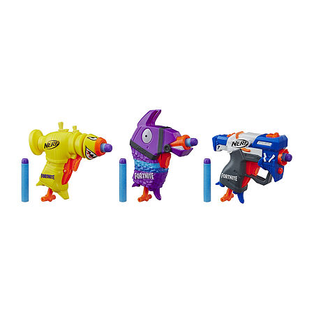 Nerf Fortnite Micro Back 3 Pack, One Size , No Color Family
