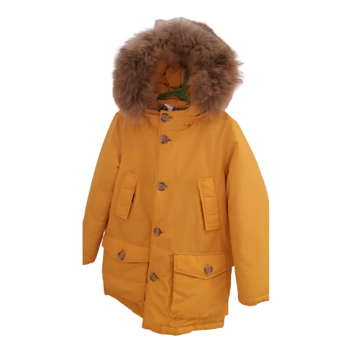 Woolrich - Blousons.Manteaux   pour enfant en fourrure - jaune
